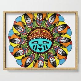 Hopi Sunshine Girl by Amanda Martinson Serving Tray