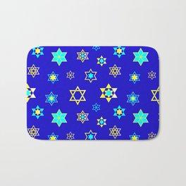 Hanukkah Holidays Celebration of Miracles Pattern Bath Mat