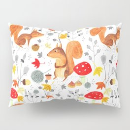 Pattern #64 - Woodland squirrels Pillow Sham