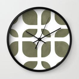 CAHOKIA MOD (TERRARIUM MOSS), pattern by Frank-Joseph Wall Clock