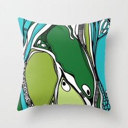 Green dive plongeon vers Throw Pillow