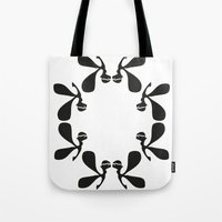 angels Tote Bags featuring Angels by by Ingela