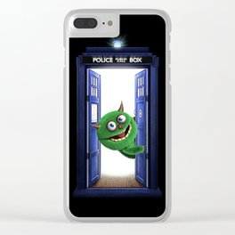 Welcome My Tardis Clear iPhone Case