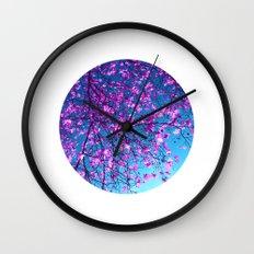 purple tree XXV Wall Clock