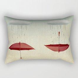 embracing the rain Rectangular Pillow