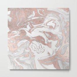 Rosegold marble Metal Print