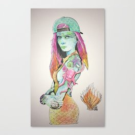 The Little Mermaiden Canvas Print