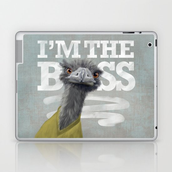 I am the Boss - Ostrich. Laptop & iPad Skin