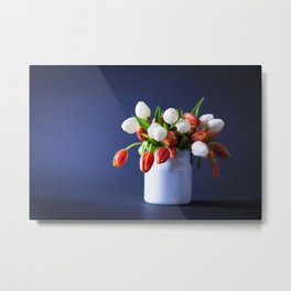 She Bought her own Flowers Metal Print
