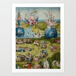Hieronymus Bosch - The Garden of Earthly Delights - Medieval Oil Painting Art Print