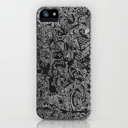 White/Black #3 iPhone Case