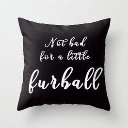 Little Fuball Throw Pillow