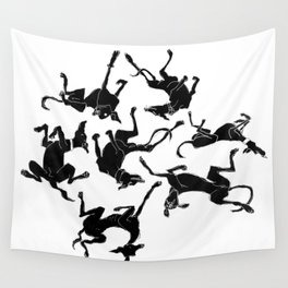 greyhound yoga Wall Tapestry