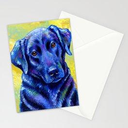 Colorful Labrador Retriever Dog Stationery Cards