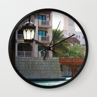 arab Wall Clocks featuring Dubai - Outside Burj Al Arab by gdesai