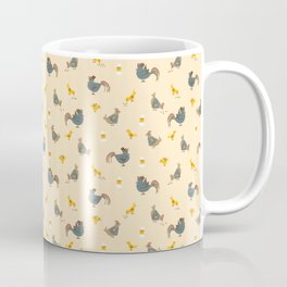 Chicken Pattern on Yellow, Easter Coffee Mug