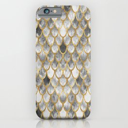 Marble Mermaid Scales iPhone Case
