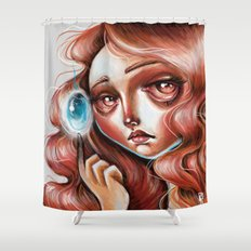 Soul Gem :: Red Headed Scamp Shower Curtain