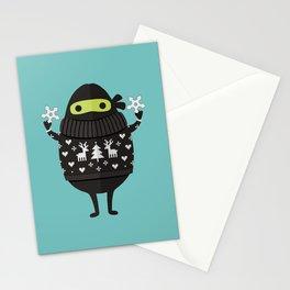 NINJACADO IN HOLIDAY SWEATER Stationery Cards