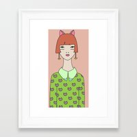 kit king Framed Art Prints featuring kit by Sproot