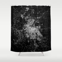 denver Shower Curtains featuring Denver map by Line Line Lines