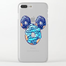 Pop Blue Donut Clear iPhone Case