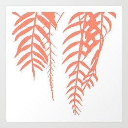 botany coral color Art Print