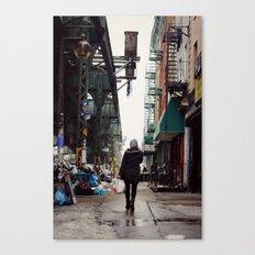 Walking Through Bushwick, Brooklyn Canvas Print