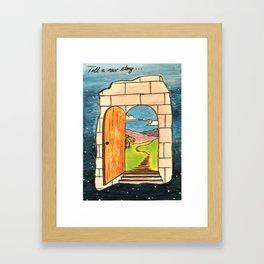 Tell a new story Framed Art Print