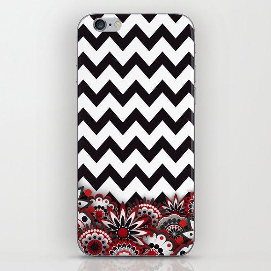 Floral Chevron. iPhone & iPod Skin