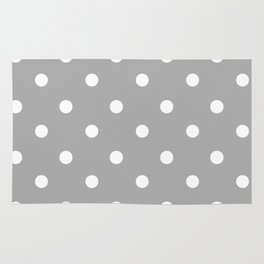 Gray With Teeny Weeny White Polka Dots Rug