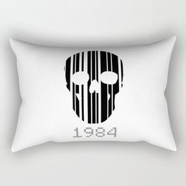 Barcode Skull 1984 Rectangular Pillow