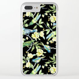 Botanical Tea Party Clear iPhone Case