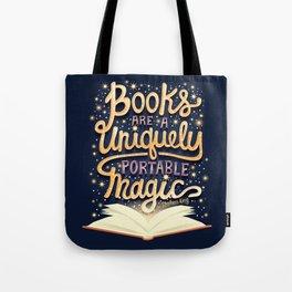 Books are magic Tote Bag