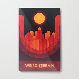 Mercury - Weird Terrain Metal Print