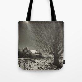 Moonlit Farm House Tote Bag