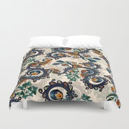 Stylized Buttercup Pattern Duvet Cover