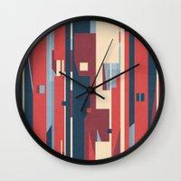 metropolis Wall Clocks featuring Metropolis by Tracie Andrews