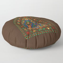 Persian Decorative Stained glass Window, Kashan, Persia, Iran Floor Pillow