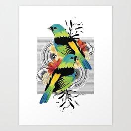 Green-headed Tanager Art Print