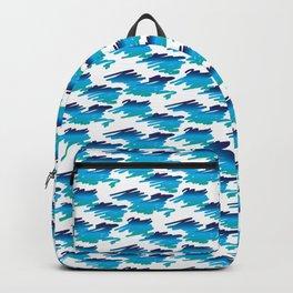Scribbles Of Blue Backpack