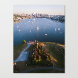 Gas Works and Lake Union Canvas Print