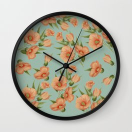 The Earth Laughs in Flowers Wall Clock