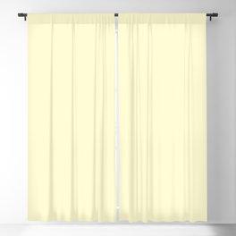 Pastel Lemon Yellow Pale Soft Meringue Yellow Blackout Curtain