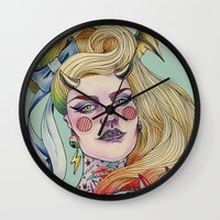 devil Wall Clocks featuring Devil. by Izuru  Kumo