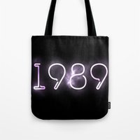 1989 Tote Bags featuring 1989 (INSPIRED) by savingmypromises