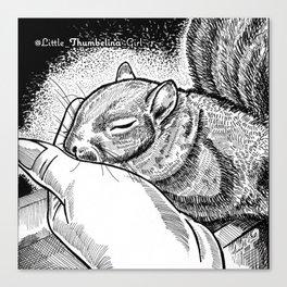 Little Thumbelina Girl: sleeping beauty Canvas Print