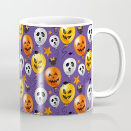 Halloween Mouse Ears Bow Bats & Balloons Coffee Mug