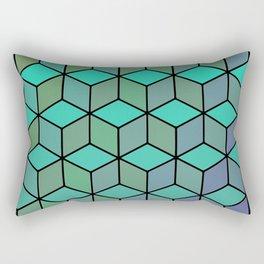 blue and purple gradient cubes Rectangular Pillow