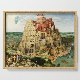 The Tower of Babel by Pieter Bruegel the Elder, 1563 Serving Tray